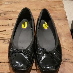 Size 9 Shoes for Crews Black Patent Leather Flats